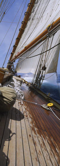 Close-up of a sailboat deck by Panoramic Images