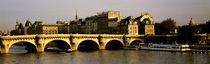 Panorama Print - Pont Neuf, Paris, Frankreich von Panoramic Images