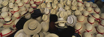 High Angle View Of Hats In A Market Stall, San Francisco El Alto, Guatemala by Panoramic Images