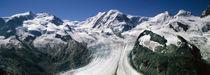 Snow Covered Mountain Range With A Glacier, Matterhorn, Switzerland von Panoramic Images