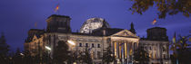 Facade of a building at dusk, The Reichstag, Berlin, Germany von Panoramic Images