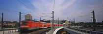 Train on railroad tracks, Central Station, Berlin, Germany by Panoramic Images