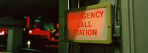 Emergency telephone booth in a city, California, USA von Panoramic Images
