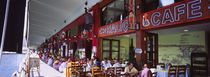 Large group of people sitting in a cafe, Istanbul, Turkey von Panoramic Images