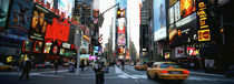 Traffic on a road, Times Square, New York City, New York, USA by Panoramic Images