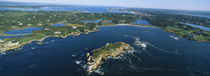 Aerial view of an island, Newport, Rhode Island, USA by Panoramic Images