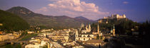 High angle view of a city, Salzburg, Austria by Panoramic Images