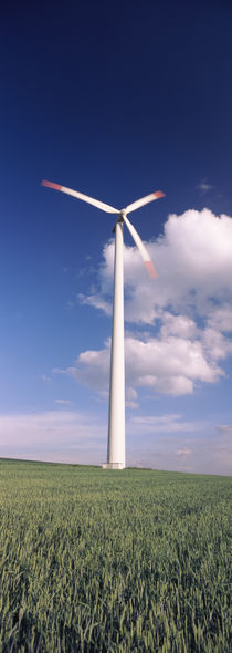 Wind turbine in a field, Baden-Wurttemberg, Germany by Panoramic Images