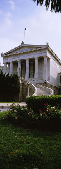 Low angle view of a building, National Library, Athens, Greece von Panoramic Images