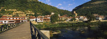 Bridge across a river with a city in the background, Veliko Tarnovo, Bulgaria von Panoramic Images