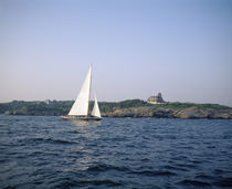 Sailboat in the sea, Jamestown, Rhode Island, USA by Panoramic Images