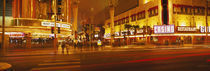 Casino lit up at night, Fremont Street, Las Vegas, Nevada, USA von Panoramic Images