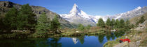 Hiker Matterhorn Mountain Switzerland by Panoramic Images