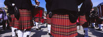 Group Of Men Playing Drums In The Street, Scotland, United Kingdom von Panoramic Images