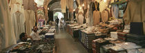 Clothing stores in a market, Souk Al-Liffa, Tripoli, Libya by Panoramic Images