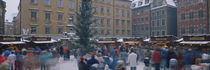 Large group of people at a Christmas festival, Julmarknad, Stockholm, Sweden von Panoramic Images