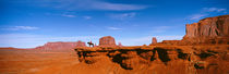 Person riding a horse on a landscape, Monument Valley, Arizona, USA by Panoramic Images