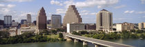 Buildings in a city, Town Lake, Austin, Texas, USA by Panoramic Images