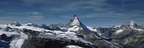 Snow on mountains, Matterhorn, Valais, Switzerland von Panoramic Images