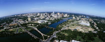 Aerial view of a city, Austin, Travis County, Texas, USA by Panoramic Images