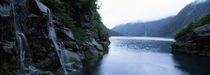 Water flowing through rocks, South Island, New Zealand by Panoramic Images