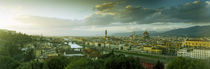 High angle view of a city from Piazzale Michelangelo, Florence, Tuscany, Italy von Panoramic Images