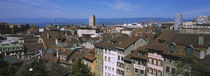 High angle view of buildings in a city, Lausanne, Switzerland von Panoramic Images
