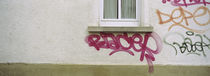 Close-up of graffiti on the wall, Stuttgart, Baden-Württemberg, Germany von Panoramic Images