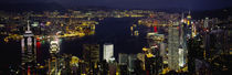 Buildings Illuminated At Night, Hong Kong von Panoramic Images