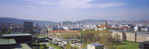 High angle view of a city, Stuttgart, Germany by Panoramic Images