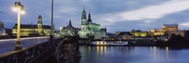 City Lit Up At Dusk, Dresden, Germany von Panoramic Images