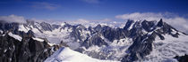 High angle view of a mountain range, Mt Blanc, The Alps, France von Panoramic Images
