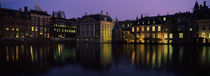 Buildings at the waterfront, Binnenhof, The Hague, South Holland, Netherlands by Panoramic Images