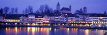 Evening, Lake Zurich, Rapperswil, Switzerland by Panoramic Images