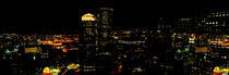 High angle view of a city at night, Boston, Suffolk County, Massachusetts, USA by Panoramic Images
