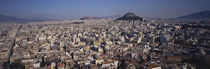Aerial View Of A City, Athens, Greece