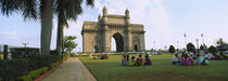 Tourist in front of a monument, Gateway Of India, Mumbai, Maharashtra, India by Panoramic Images