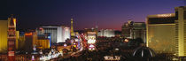 Buildings Lit Up At Night, Las Vegas, Nevada, USA von Panoramic Images