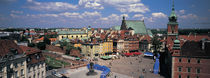 High angle view of a market square, Warsaw, Silesia, Poland by Panoramic Images