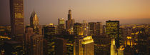 Skyscrapers in a city, Chicago, Illinois, USA by Panoramic Images