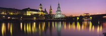 Reflection Of Buildings On Water At Night, Dresden, Germany by Panoramic Images