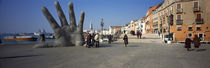 Sculpture at waterfront, San Giorgio Maggiore, Venice, Veneto, Italy by Panoramic Images