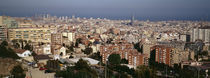 High angle view of a city, Barcelona, Catalonia, Spain by Panoramic Images