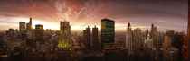 Sunset cityscape Chicago IL USA by Panoramic Images
