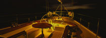 Yacht cockpit at night, Caribbean von Panoramic Images