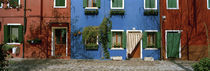 Facade of houses, Burano, Veneto, Italy by Panoramic Images
