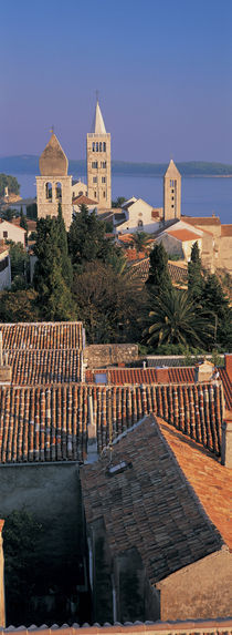 High angle view of a town, Rab Island, Croatia by Panoramic Images