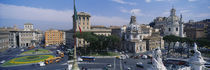 High angle view of traffic on a road, Piazza Venezia, Rome, Italy by Panoramic Images