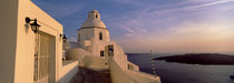 Buildings at the waterfront, Santorini, Cyclades Islands, Greece von Panoramic Images