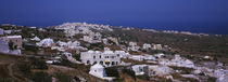 High angle view of a town, Approach to Oia, Santorini, Greece by Panoramic Images